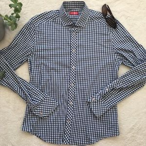 Other - Rufus men's plaid fitted long sleeve button down